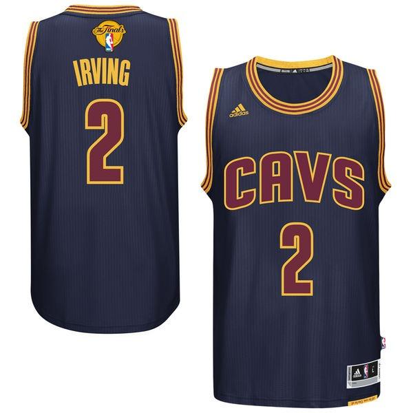 Cavaliers 2 Kyrie Irvin Navy 2017 NBA Finals Swingman Jersey