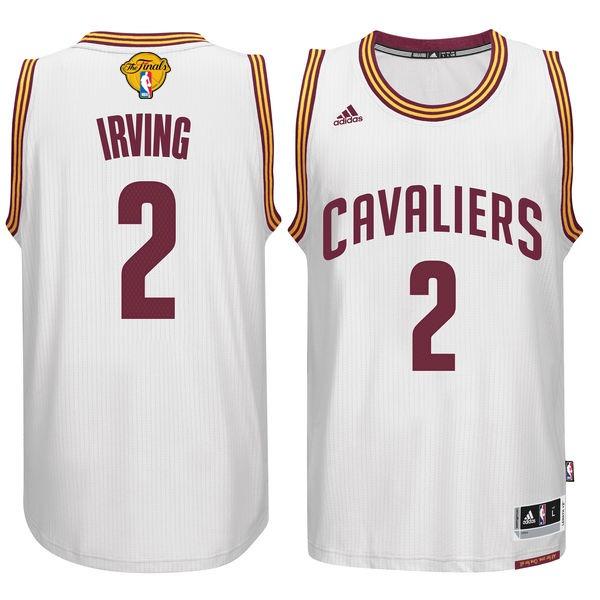 Cavaliers 2 Kyrie Irvin White 2017 NBA Finals Swingman Jersey