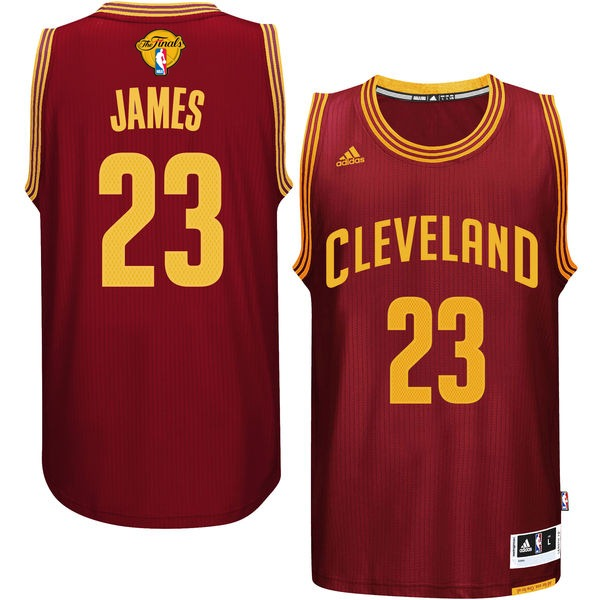 Cavaliers 23 Lebron James Burgundy 2016 NBA Finals Swingman Jersey