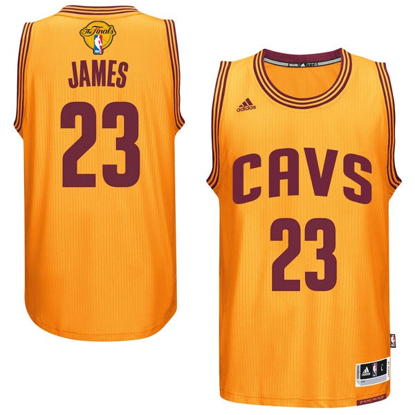 Cavaliers 23 Lebron James Gold 2016 NBA Finals Swingman Jersey