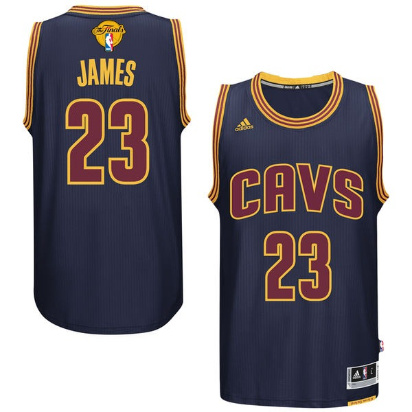 Cavaliers 23 Lebron James Navy 2017 NBA Finals Swingman Jersey