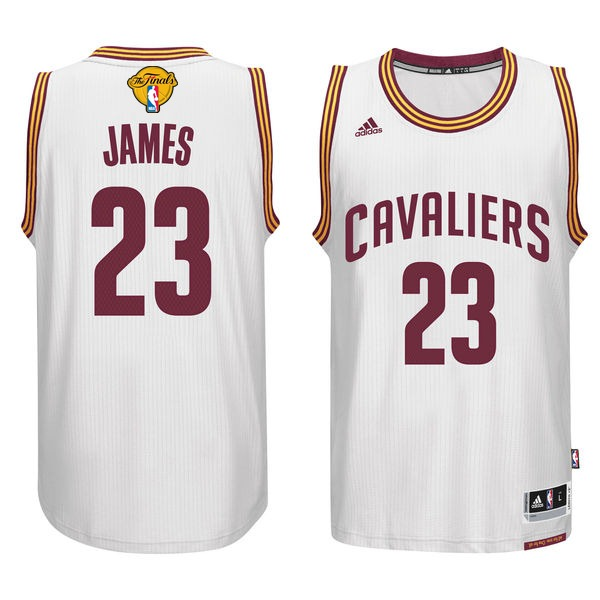 Cavaliers 23 Lebron James White 2017 NBA Finals Swingman Jersey
