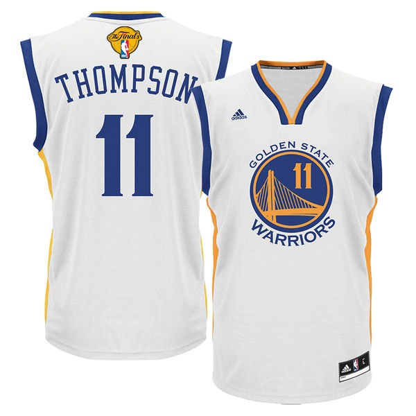Warriors 11 Klay Thompson White 2017 NBA Finals Swingman Jersey
