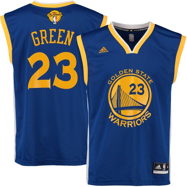 Warriors 23 Draymond Royal White 2017 NBA Finals Swingman Jersey