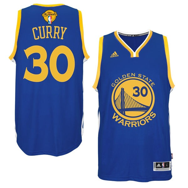 Warriors 30 Stephen Curry Royal 2017 NBA Finals Swingman Jersey
