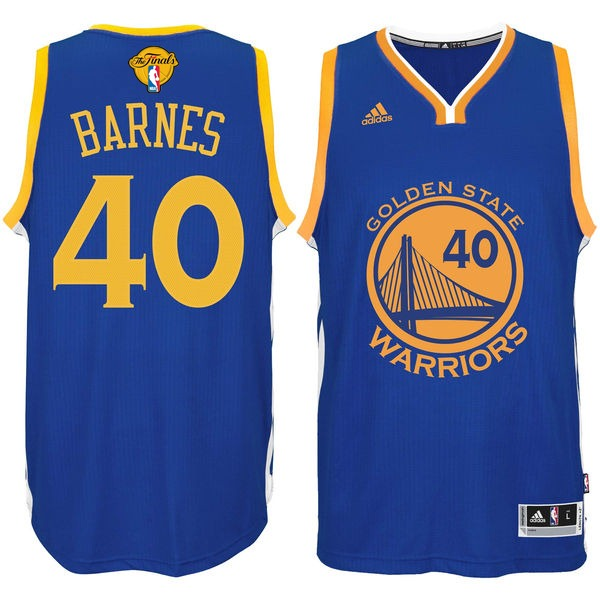 Warriors 40 Harrison Barnes Royal 2017 NBA Finals Swingman Jersey