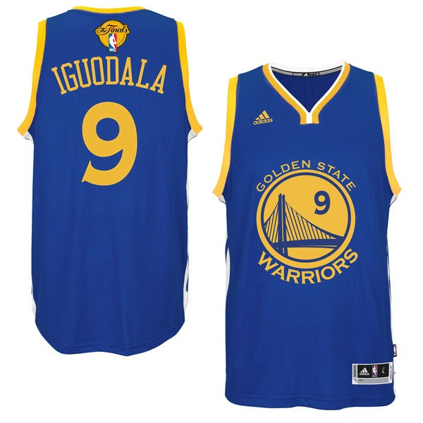 Warriors 9 Andre Iguodala Royal 2017 NBA Finals Swingman Jersey