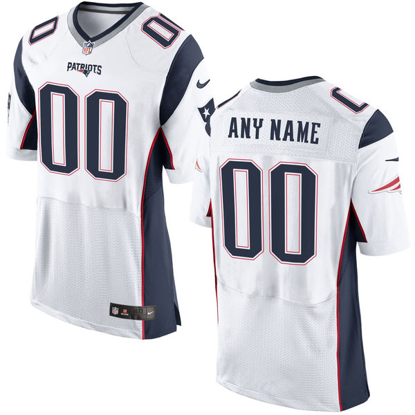 Nike New England Patriots White Men's Custom Elite Jersey