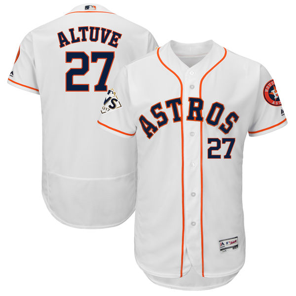 Astros 27 Jose Altuve White 2017 World Series Bound Flexbase Player Jersey