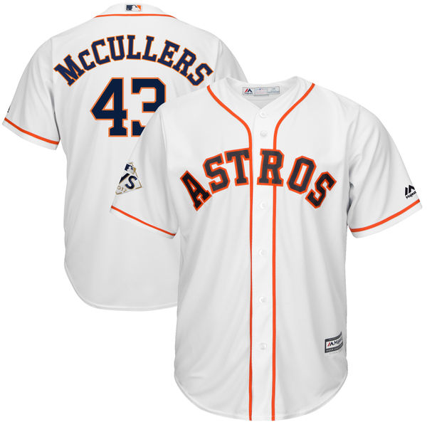 Astros 43 Lance McCullers Jr. White 2017 World Series Bound Cool Base Player Jersey