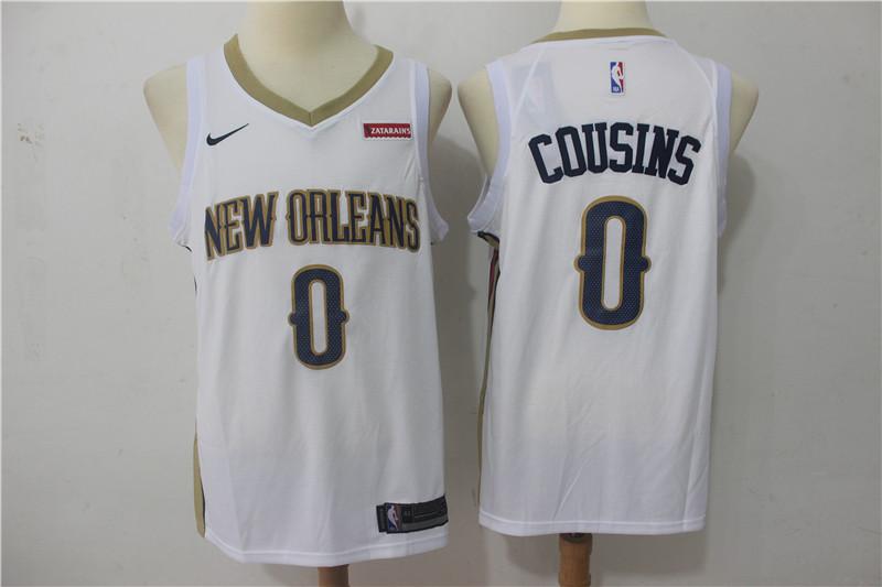 Pelicans 0 DeMarcus Cousins White Nike Swingman Jersey