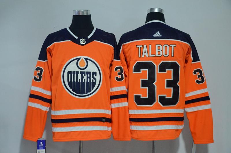 Oilers 33 Cam Talbot Orange Adidas Jersey