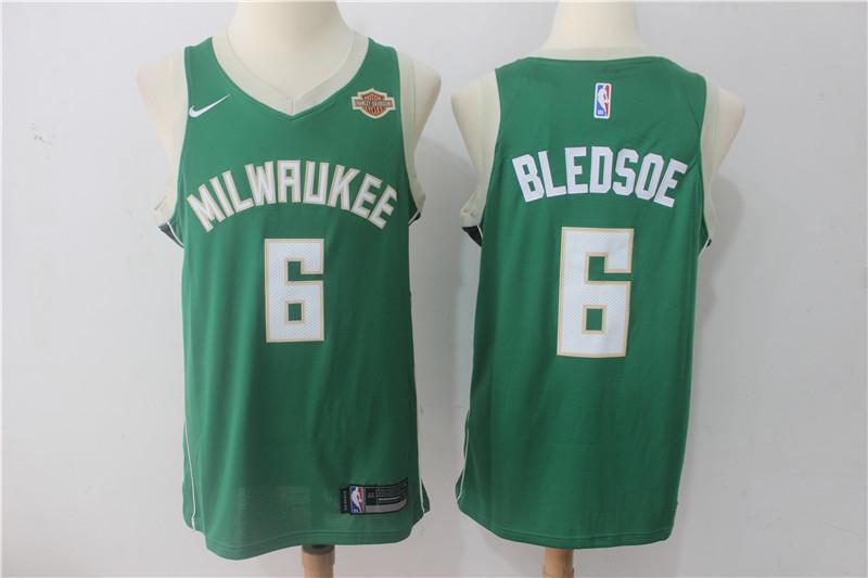 Bucks 6 Eric Bledsoe Green Nike Swingman Jersey