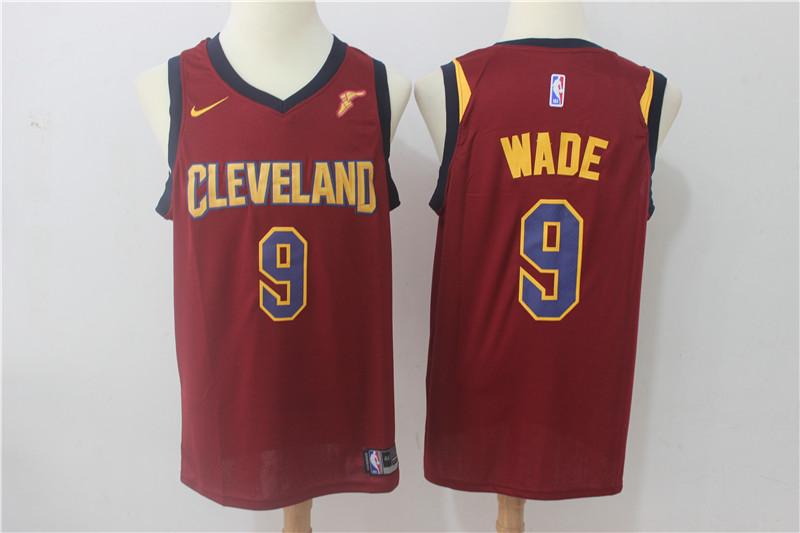 Cavaliers 9 Dwyane Wade Red Nike Swingman Jersey