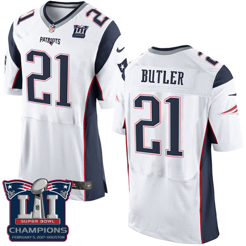 Nike Patriots 21 Malcolm White 2017 Super Bowl LI Champions Elite Jersey