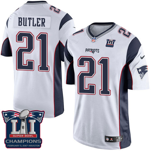 Nike Patriots 21 Malcolm White 2017 Super Bowl LI Champions Youth Game Jersey