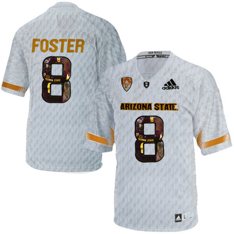 Arizona State Sun Devils 8 D.J. Foster Ice Team Logo Print College Football Jersey11