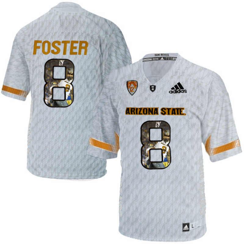 Arizona State Sun Devils 8 D.J. Foster Ice Team Logo Print College Football Jersey9