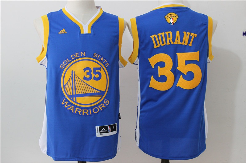 Warriors 35 Kevin Duant Royal 2017 NBA Finals Swingman Jersey