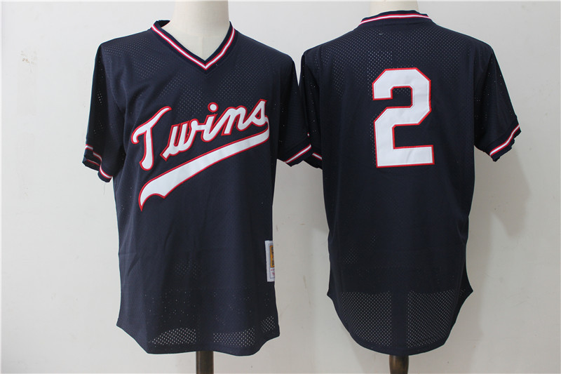 Twins 2 Brian Dozier Navy Blue Cooperstown Collection Mesh Jersey