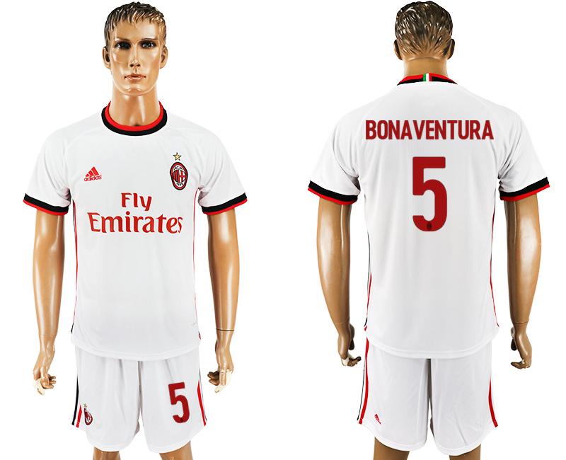 2017-18 AC Milan 5 BONAVENTURA Away Soccer Jersey