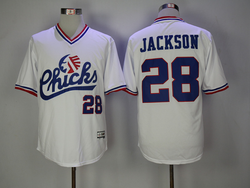 Chicks 28 Bo Jackson White Stitched Movie Jersey