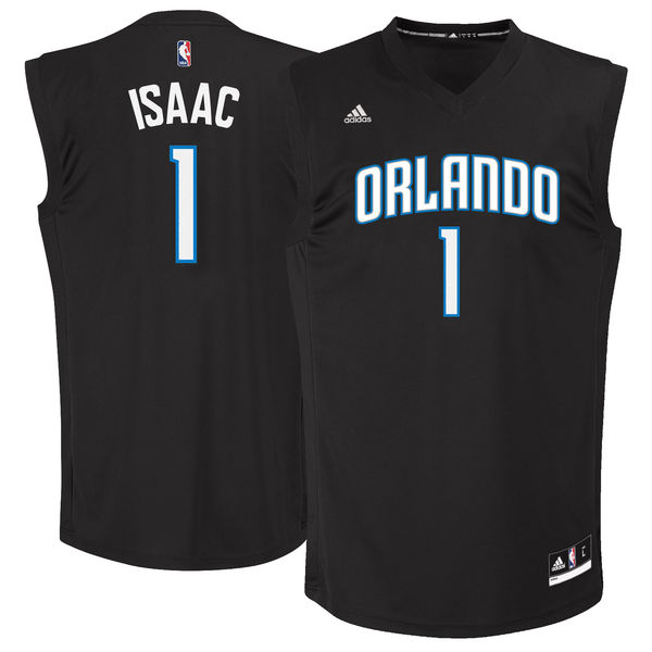 Magic 1 Jonathan Isaac Black 2017 NBA Draft #1 Pick Replica Jersey