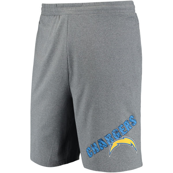 Los Angeles Chargers Concepts Sport Tactic Lounge Shorts Heathered Gray