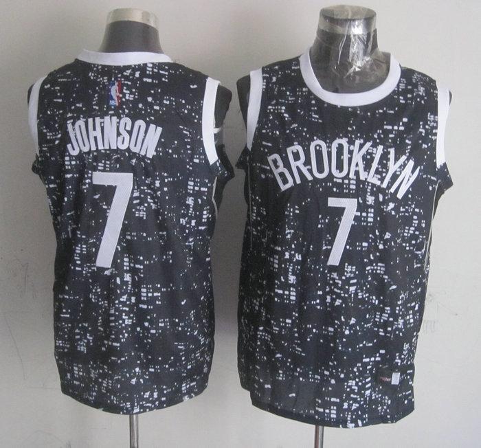 Nets 7 Joe Johnson Black City Luminous Jersey