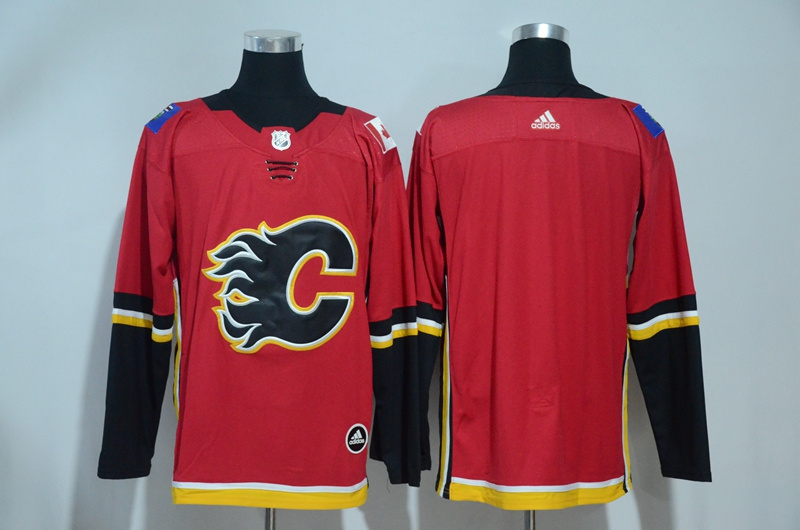 Flames Blank Red Adidas Jersey
