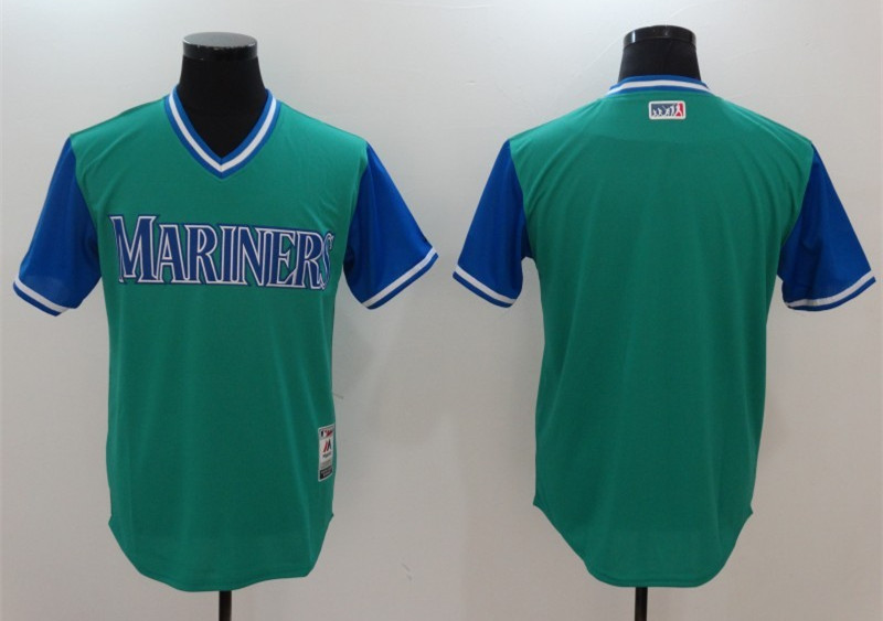 Mariners Majestic Aqua 2017 Players Weekend Team Jersey