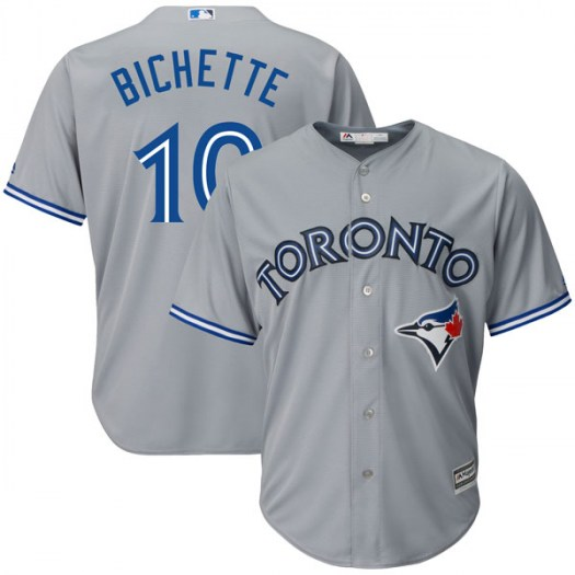 Blue Jays 10 Bo Bichette Gray Cool Base Jersey