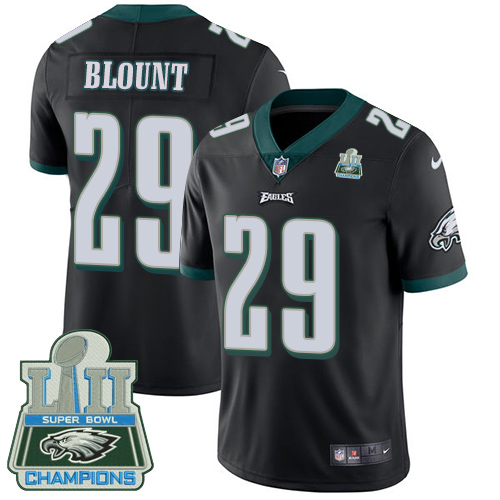 Nike Eagles 29 LeGarrette Blount Black 2018 Super Bowl Champions Youth Vapor Untouchable Player Limited Jersey