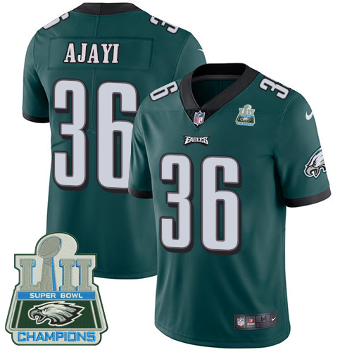 Nike Eagles 36 Jay Ajayi Green 2018 Super Bowl Champions Youth Vapor Untouchable Player Limited Jersey