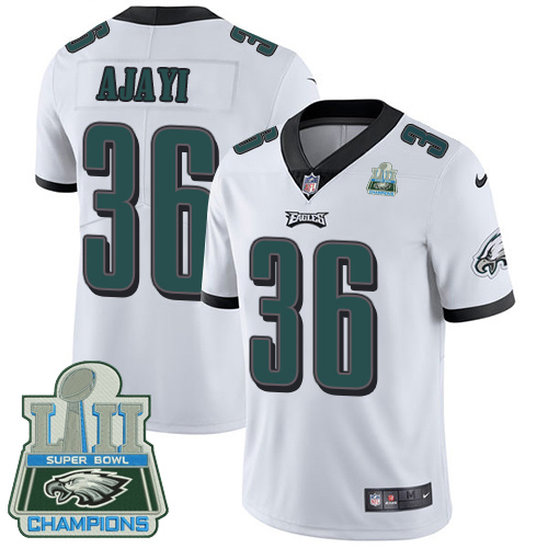 Nike Eagles 36 Jay Ajayi White 2018 Super Bowl Champions Youth Vapor Untouchable Player Limited Jersey