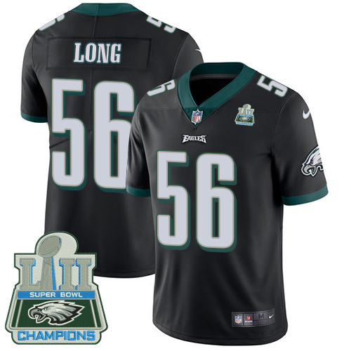 Nike Eagles 56 Chris Long Black 2018 Super Bowl Champions Youth Vapor Untouchable Player Limited Jersey