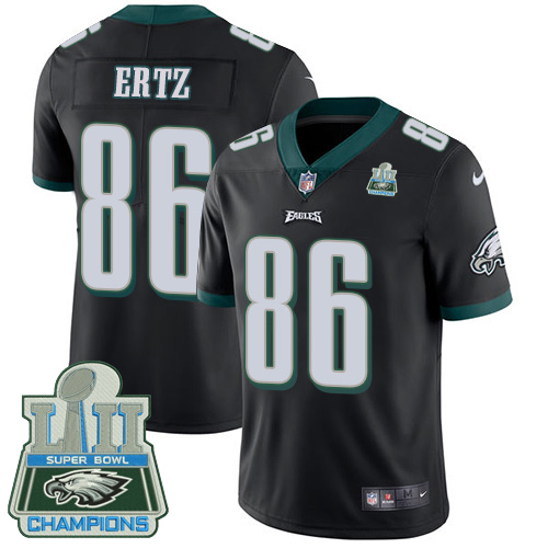 Nike Eagles 86 Zach Ertz Black 2018 Super Bowl Champions Youth Vapor Untouchable Player Limited Jersey