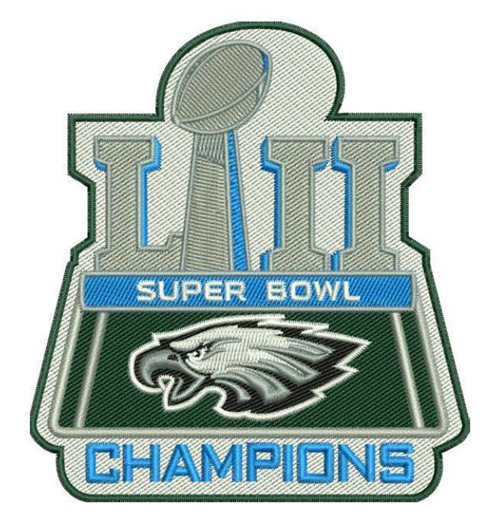 Philadelphia Eagles 2018 Super Bowl LII Champions Patch