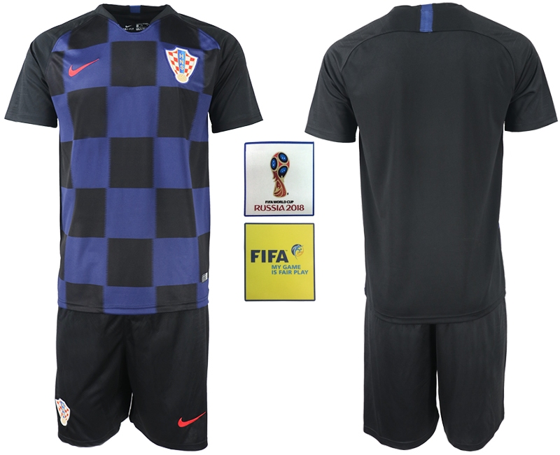 Croatia Away 2018 FIFA World Cup Men's Customized Jersey