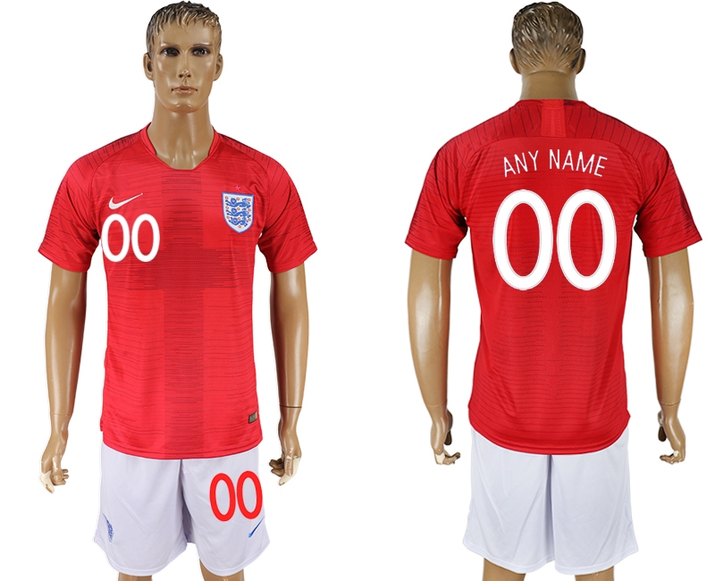 England Away 2018 FIFA World Cup Men's Customized Jersey