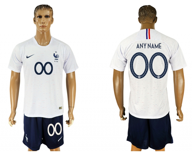 France Away 2018 FIFA World Cup Men's Customized Jersey