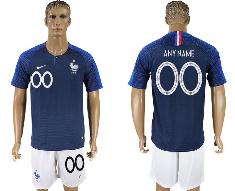 France Home 2018 FIFA World Cup Men's Customized Jersey