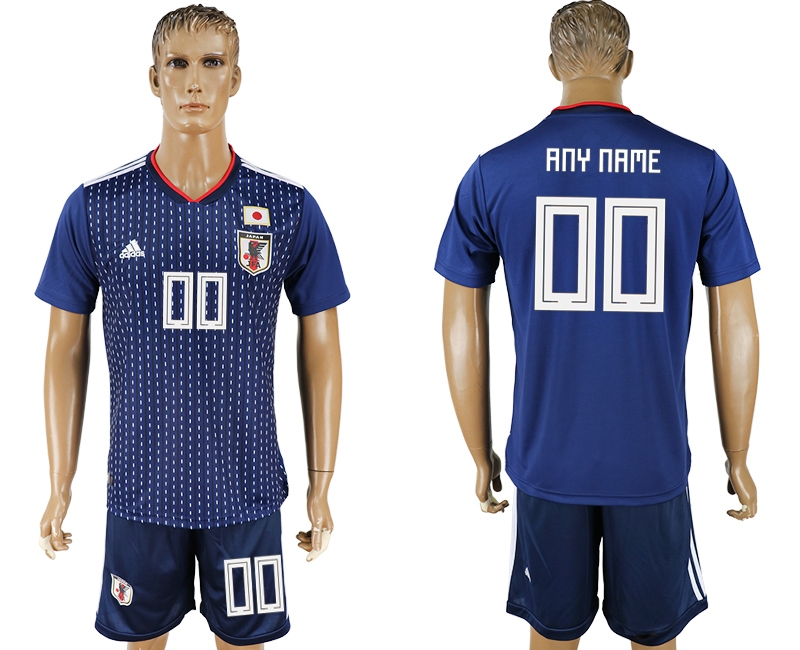 Japan Home 2018 FIFA World Cup Men's Customized Jersey