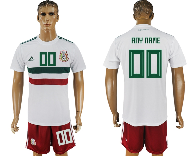 Mexico Away 2018 FIFA World Cup Men's Customized Jersey