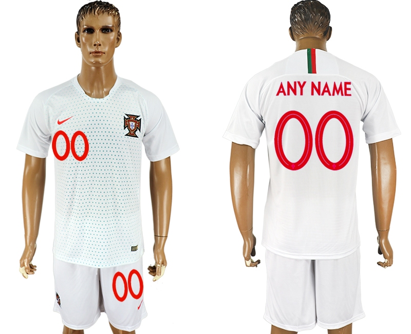 Portugal Away 2018 FIFA World Cup Men's Customized Jersey