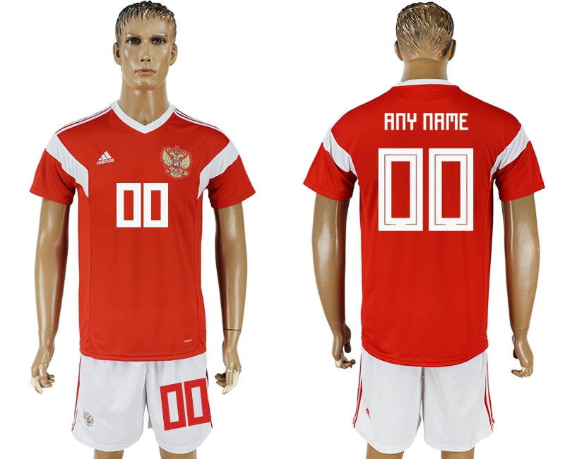 Russia Home 2018 FIFA World Cup Men's Customized Jersey