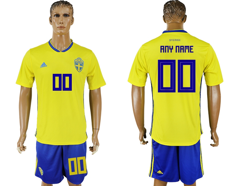 Swedon Home 2018 FIFA World Cup Men's Customized Jersey
