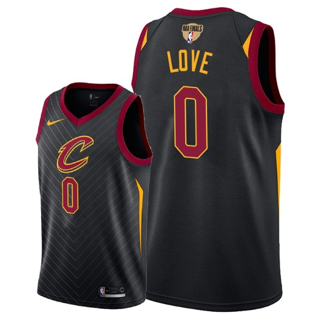 Cavaliers 0 Kevin Love Black 2018 NBA Finals Nike Swingman Jersey
