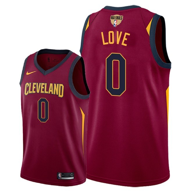 Cavaliers 0 Kevin Love Red 2018 NBA Finals Nike Swingman Jersey