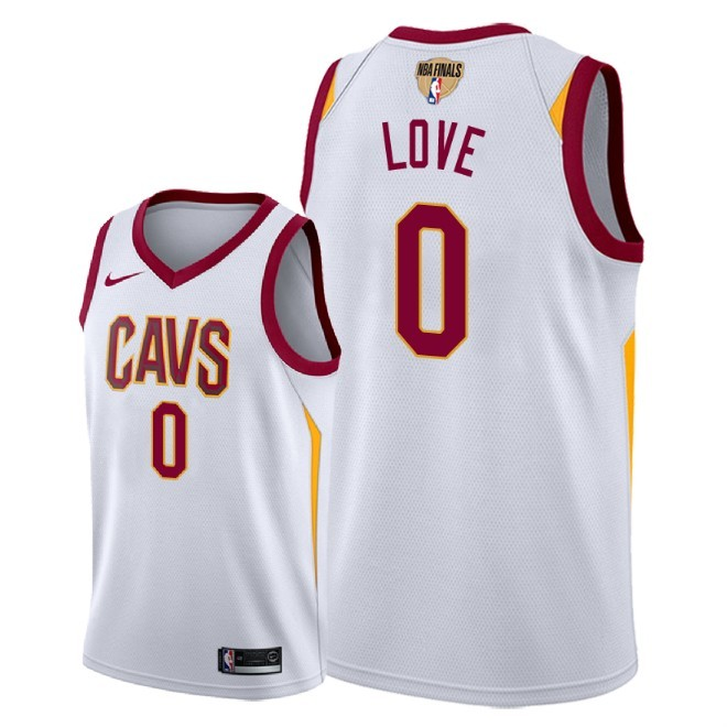 Cavaliers 0 Kevin Love White 2018 NBA Finals Nike Swingman Jersey